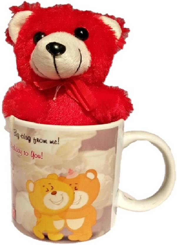 TECHNOCHITRA BIRTHDAY WISHES AND THANKS GIVING GIFT MUG TEDDY SET FOR YOUR FRIENDS SISTER BROTHER MOTHER FATHER RELATIVES LOVED ONESRED