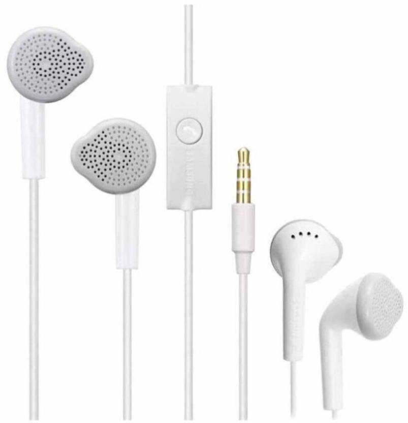 4674077ad4d TopamTop Earpod New Original With Remote and Mic Compatible with Xiaomi Mi,  Apple, Samsung, Android Smartphones Wired Headset with Mic (White, In the  Ear)
