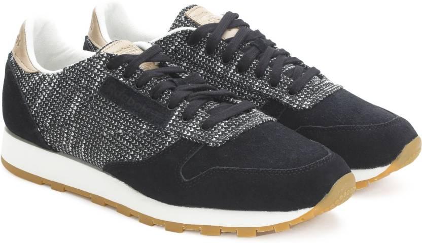 94c0e7349635 REEBOK CL LEATHER EBK Sneakers For Men - Buy BLACK STARK GRY SAND ...