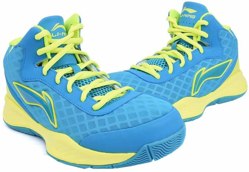 0f84dd3386d2 Li-Ning ABPJ047-1 Blue Yellow Basketball Shoes For Men - Buy Li-Ning ...