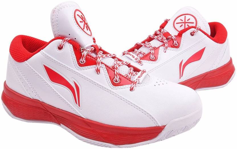 nouveau concept ecfe9 3a24f Li-Ning Wade ABPJ043-2 White/Red On Court Basketball Shoes For Men