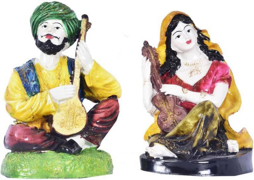 Navrang Multicolour Pair Of Punjabi Handicrafts Showpiece Punjab