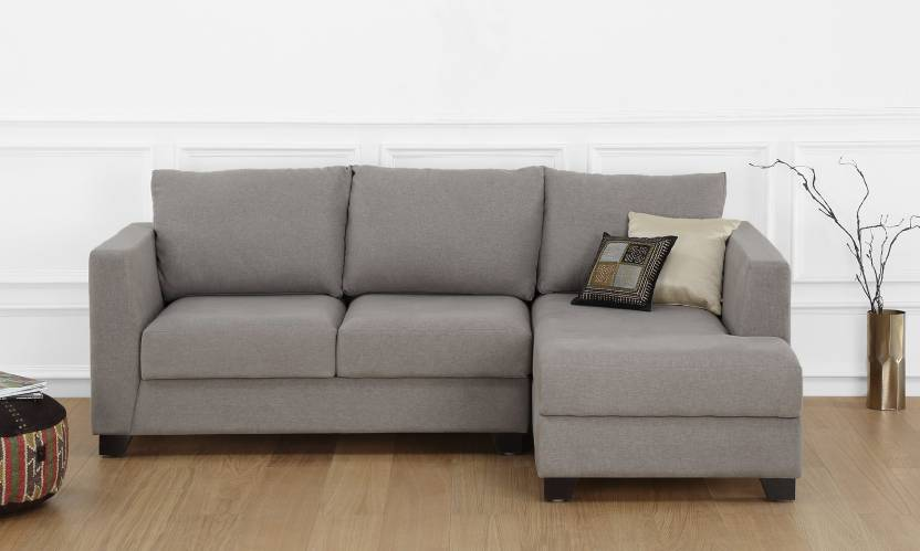 Furnspace Oliver L Shape, 2-Seat, Chaise, Right-aligned Sofa ...