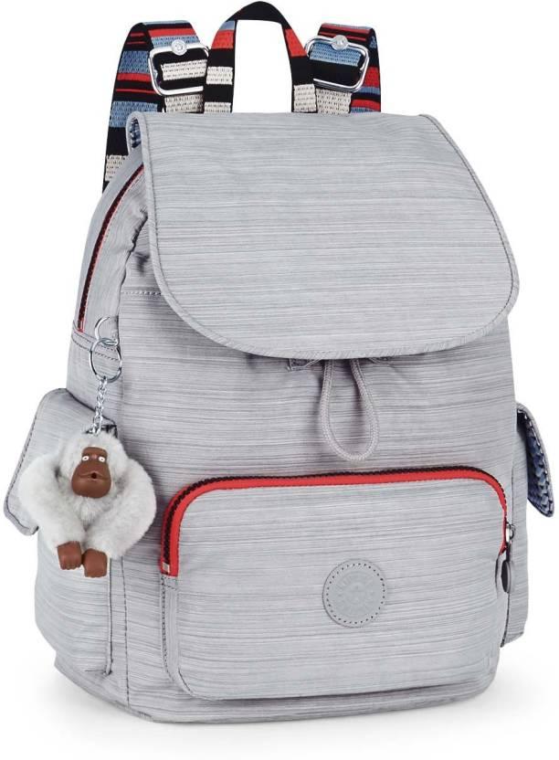 be58cd1d54 Kipling CITY PACK S 13 L Backpack Dazz Grey Str - Price in India ...