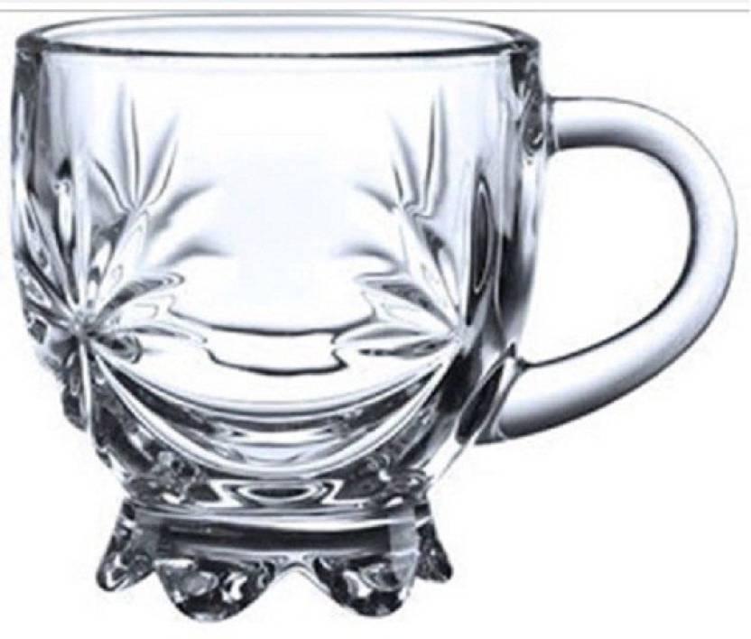 Transparent 6 Glass Coffee Mugsset Mug Flower Ezra Crystal Of Teaamp; Cups NnOX80PZwk