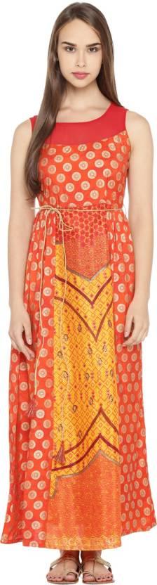 7e7f48f2e51 Akkriti by Pantaloons Women s Maxi Yellow Dress - Buy Akkriti by ...