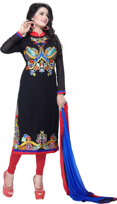 95d4cb49bb Saumya Designer Georgette Embroidered Semi-stitched Salwar Suit Dupatta  Material Price in India - Buy Saumya Designer Georgette Embroidered Semi- stitched ...