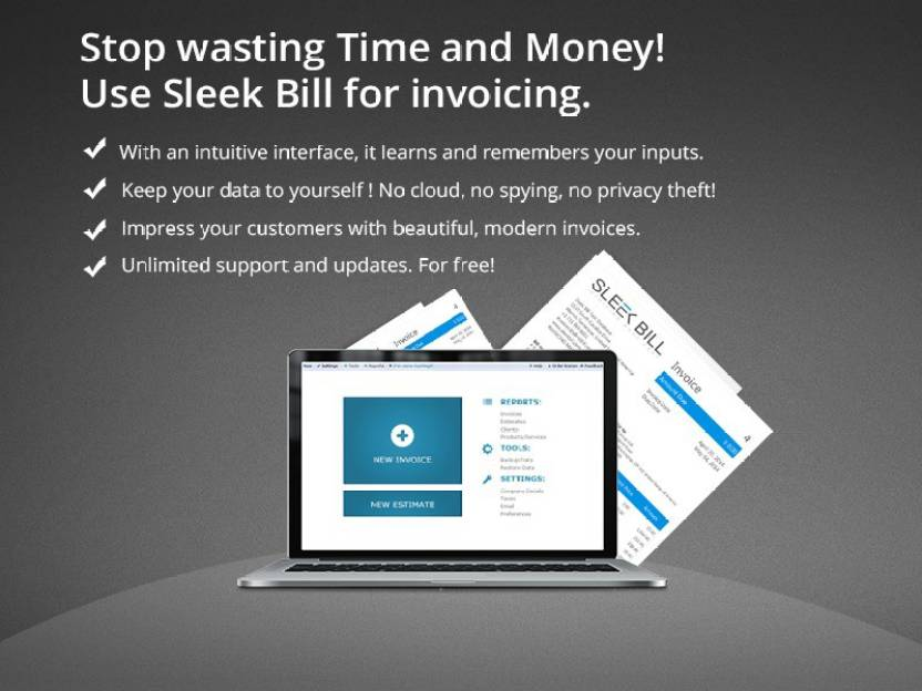 Sleek Bill Offline Premium Billing Software Price In India Buy - Invoice software in india