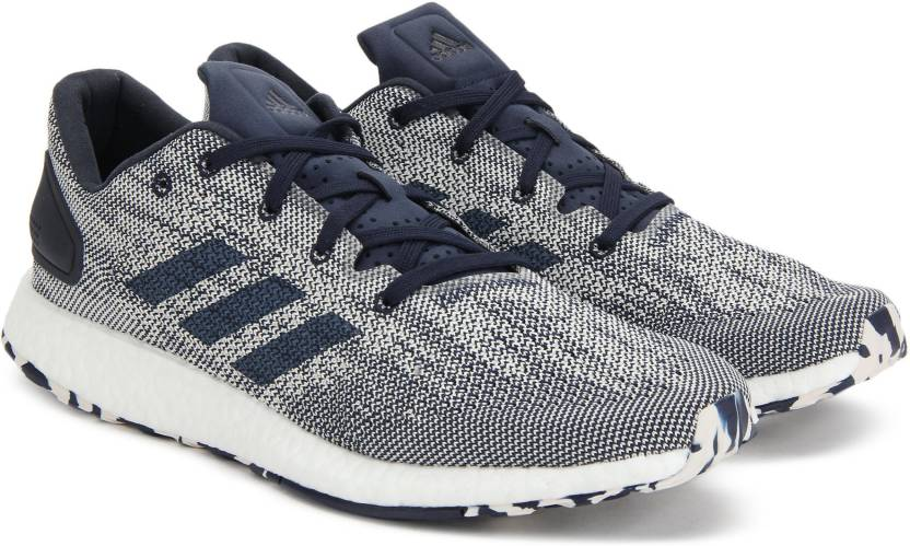 more photos ca351 075c2 ADIDAS PUREBOOST DPR Running Shoes For Men (White, Navy)