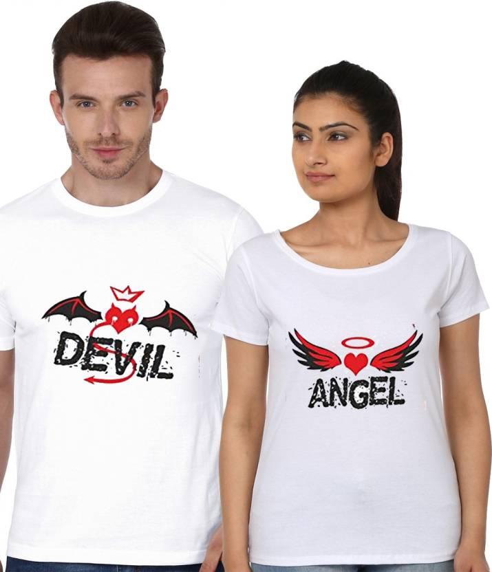 bbb99fab Melcom Printed Men's & Women's Round Neck White T-Shirt - Buy Melcom ...