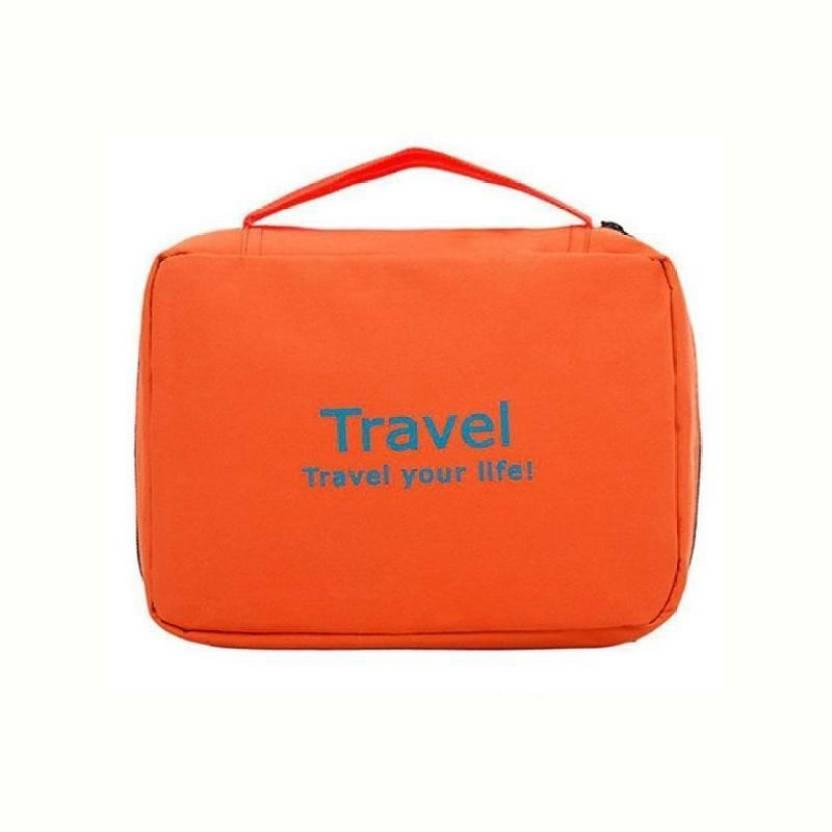 26949477abae Styleys Orange Toiletry Bag Travel Toiletry Kit Orange - Price in ...