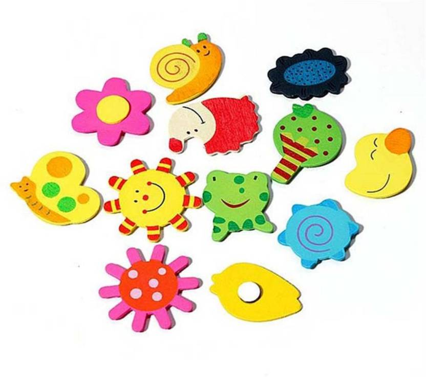 Pari Collection Wooden Magnetic Fun Bright Colorful Preschool