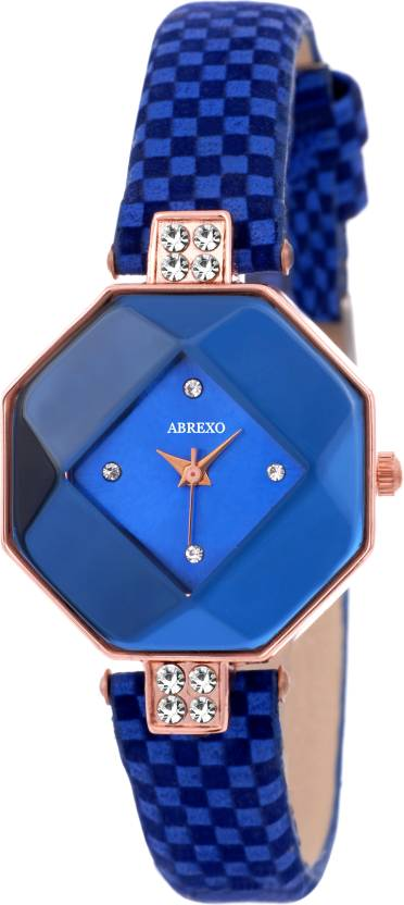 Abrexo Abx-NH05014-Royal Blue-Ladies Supreme Excellence TNT Design  Excellence Raga Series Watch - For Women