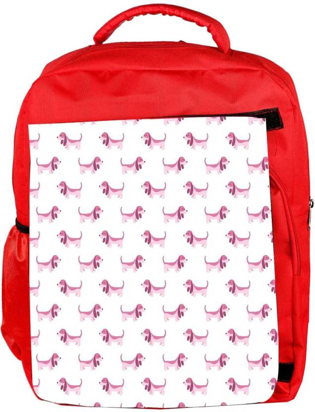 63bccb039245 Snoogg Eco Friendly Canvas Abstract Dash White Pattern Designer Backpack  Rucksack School Travel Unisex Casual Canvas Bag Bookbag Satchel 5 L Backpack  (Red)
