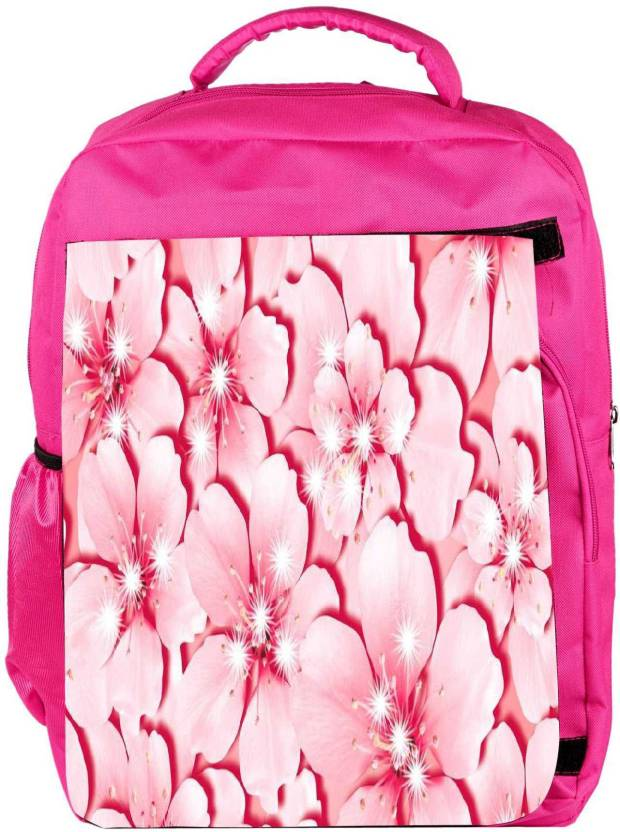 23474fb5fd Snoogg Eco Friendly Canvas Pink Flower Backpack Rucksack School Travel  Unisex Casual Canvas Bag Bookbag Satchel 5 L Backpack (Pink)