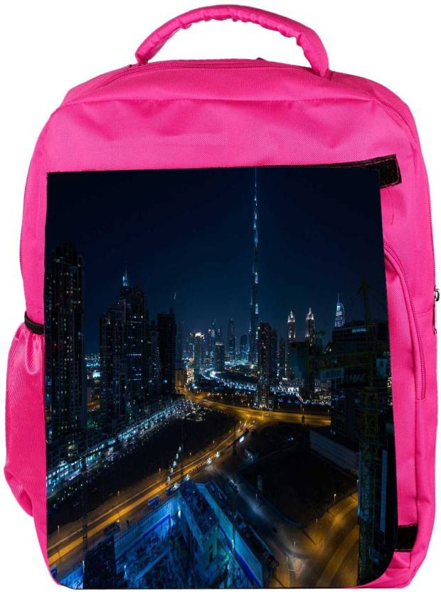 4bbcc202761f Snoogg Eco Friendly Canvas Night View Of Burj Khalifa Designer Backpack  Rucksack School Travel Unisex Casual