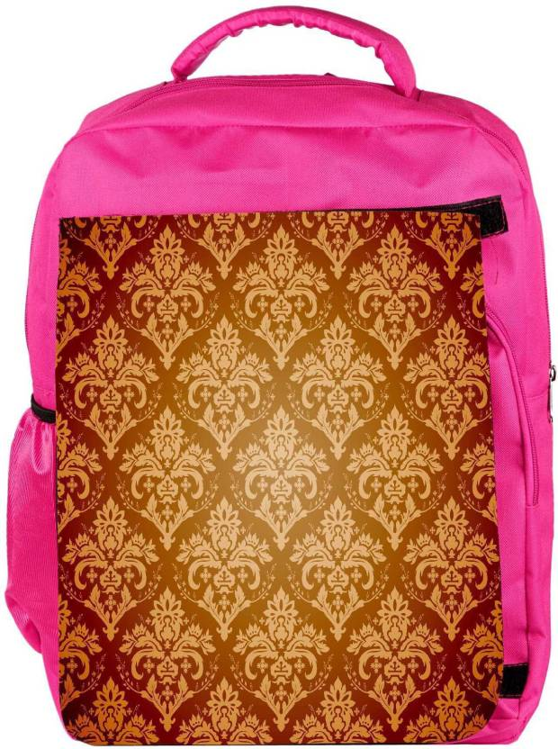 6b88be12c237 Snoogg Eco Friendly Canvas Abstract Cream Pattern Designer Backpack  Rucksack School Travel Unisex Casual Canvas Bag Bookbag Satchel 5 L Backpack  (Pink)