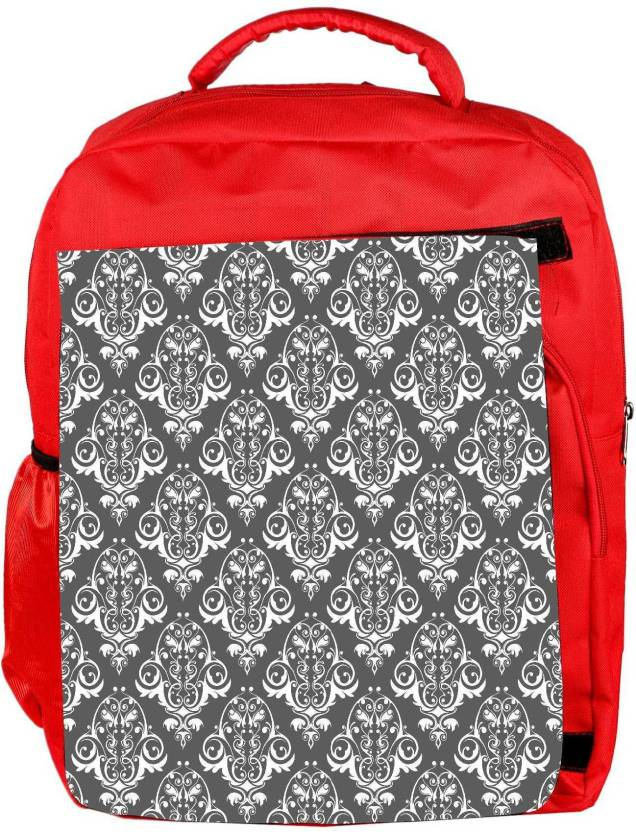 9804f14127e0 Snoogg Eco Friendly Canvas Abstract White Grey Pattern Designer Backpack  Rucksack School Travel Unisex Casual Canvas Bag Bookbag Satchel 5 L Backpack  (Red)