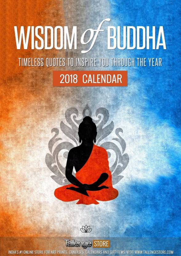 tallenge best selling wall calendar 2018 wisdom of buddha wall calendar collection of timeless