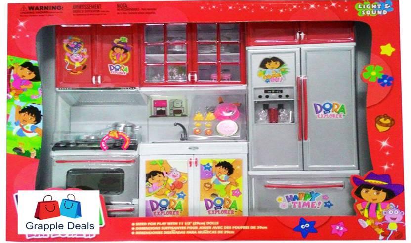 Grapple Deals Barbie Dream House Kitchen Set Light Sound With Doll