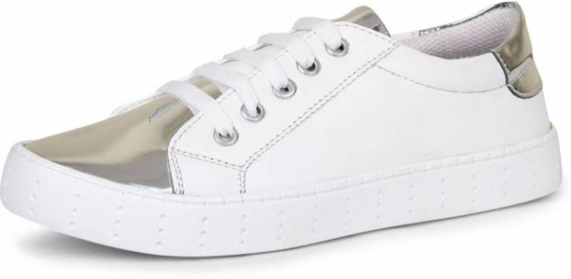 Bella Toes Designer Shoes For Women Casual Shoes White Fabric