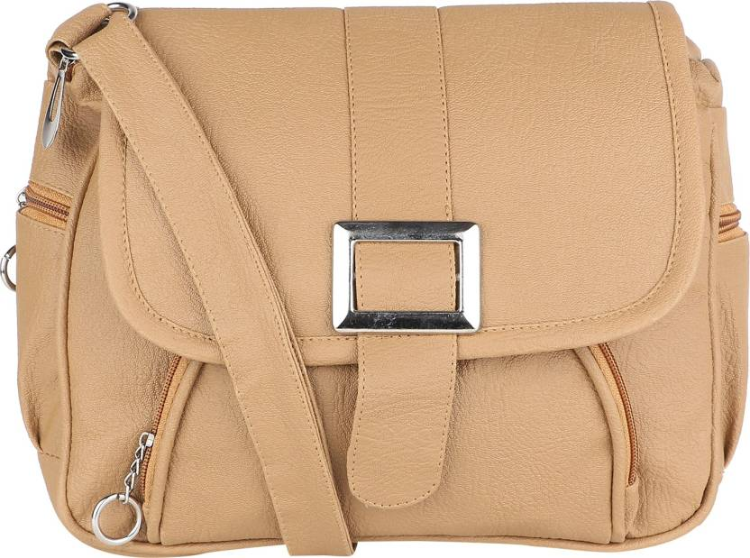 8c2abb89619f TARSHI Women Casual Beige PU Sling Bag Beige - Price in India ...