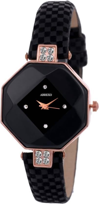 Abrexo Abx-NH05014-Black Ladies Partywear TNT Design Excellence Raga Series  Watch - For Women