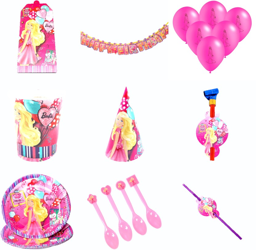 """BARBIE HAPPY BIRTHDAY PARTY BALLOONS Decorations Supplies XL Pink Doll Girl 46/"""""""