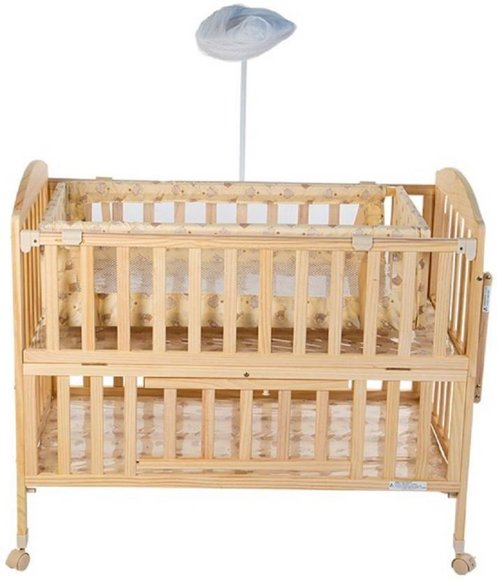 Meemee Wooden Baby Cot With Cradle Cream Cot Buy Baby Cot Buy