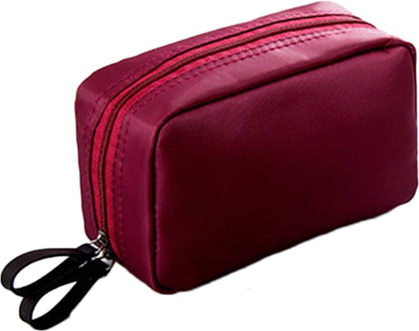 Woowaa Daily Makeup Pouch Cosmetic Bag Purse Compact Size Travel Toiletry Kit