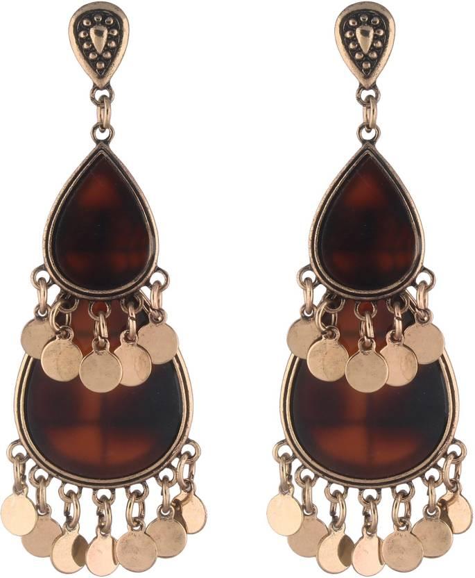 b7eb1ff90 Jazz Jewellery Designer Latest Style Alloy Antique Gold Plated Fashion Fancy  Party Wear Designer Dangler Long