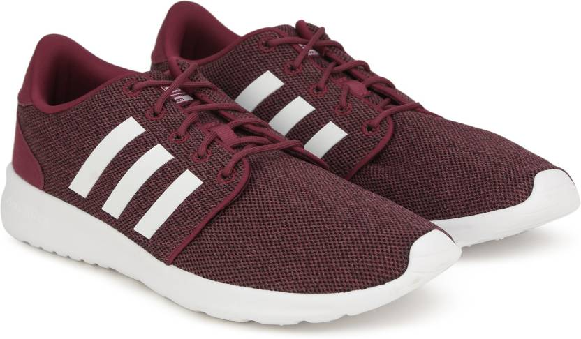 buy online 4ee2f d465d ADIDAS NEO CF QT RACER W Sneakers For Women (White, Maroon)
