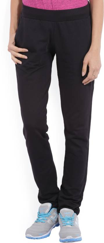 ceb4159b20d4 Puma Solid Women Black Track Pants - Buy Black Puma Solid Women ...