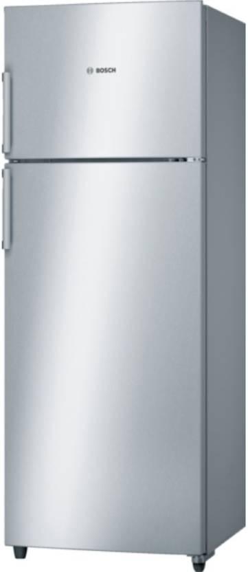 Bosch 350 L Frost Free Double Door Top Mount 4 Star Refrigerator  (Inox, KDN43VL40I)
