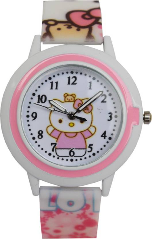 Creator TM Hello Kitty 001 New Round Dial Birthday Gifts Sent As Per Available Colour Watch