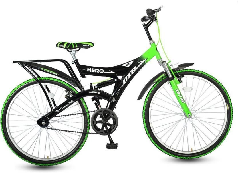 18163d7e2f8 Hero Ranger Single Speed DTB Vx 26T Mountain Bike 26 T Mountain Cycle  (Single Speed, Black, Green)