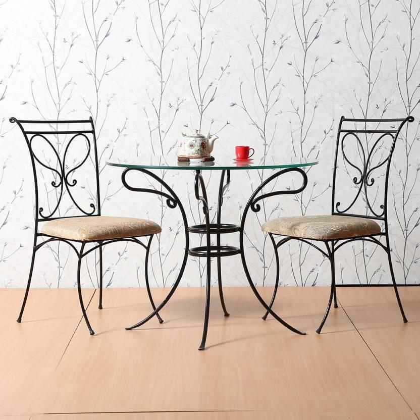 Fullstock Lassy Metal 2 Seater Dining Table Price In India Buy