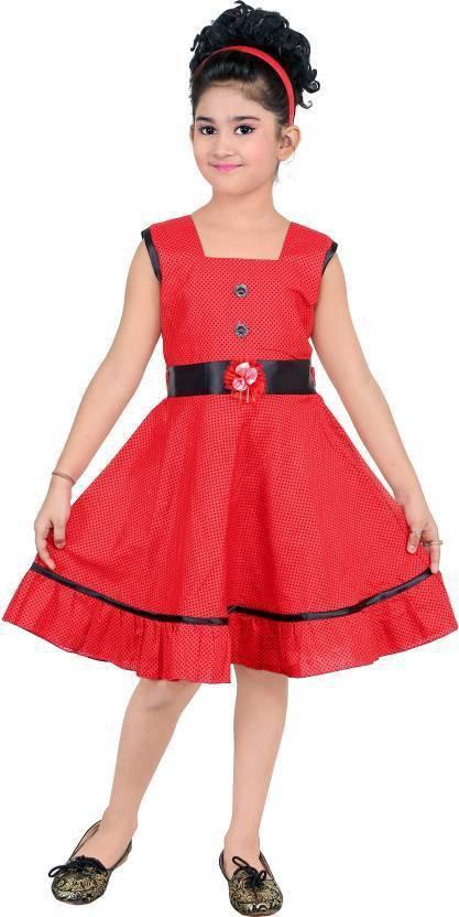 8034331ad2d9 Singham Girls Midi Knee Length Casual Dress Price in India - Buy ...