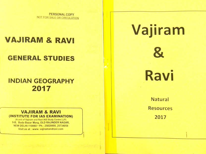 Vajiram And Ravi Ias Class Room Study Material 23 Booklets: Buy