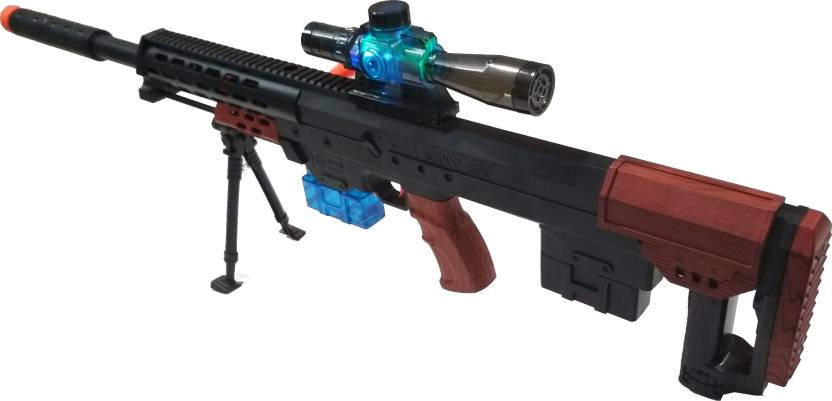 VShine Sniper Gun Toy Big Size 31 Inches with Light , Water Crystal bullets  and Soft Bullets