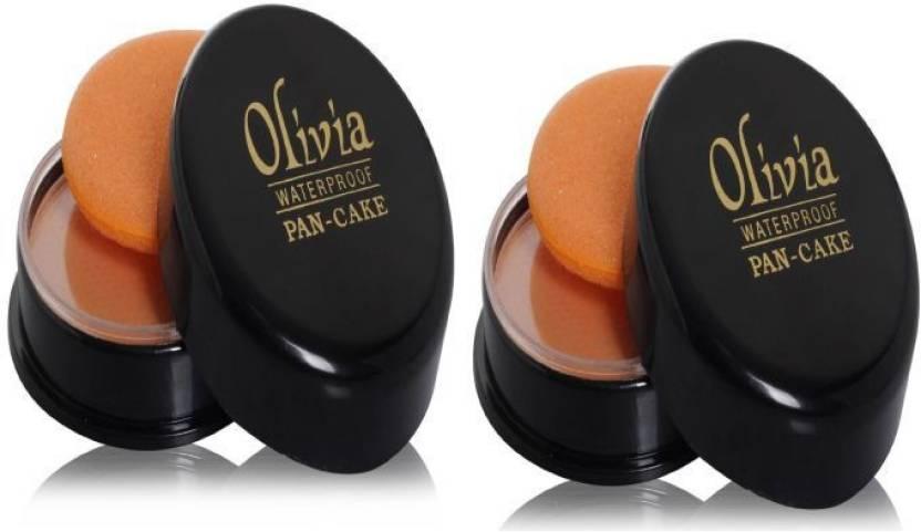 Olivia Waterproof Pan-Cake (Pack of 2) Compact  - 25 g