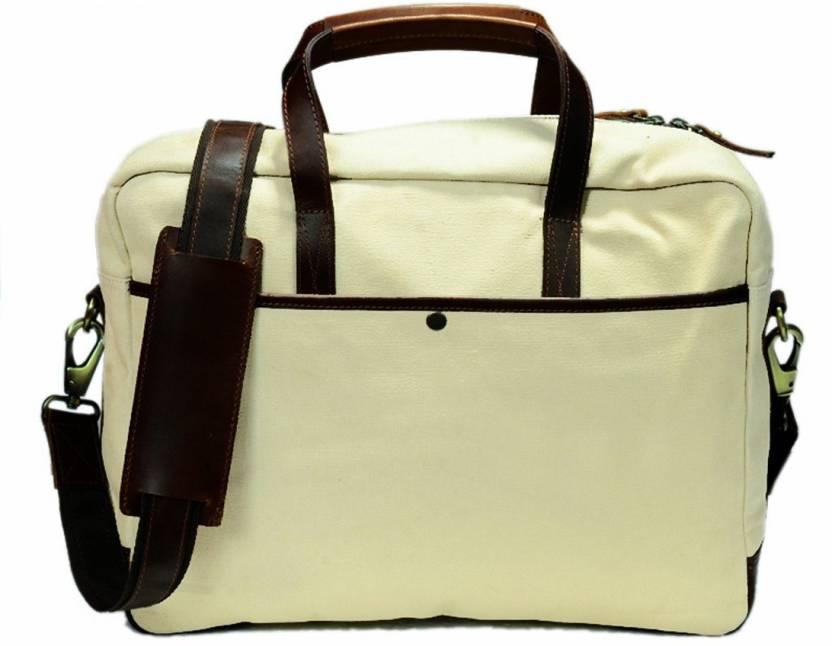 e17f1ad34fb3 Zakara 15 inch Laptop Messenger Bag Cream - Price in India ...