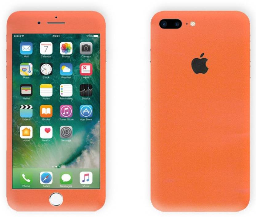 reputable site a5df3 dbf31 GadGets Wrap iphn-8pls-Orange Carbon Skin for Front & Back of Apple ...