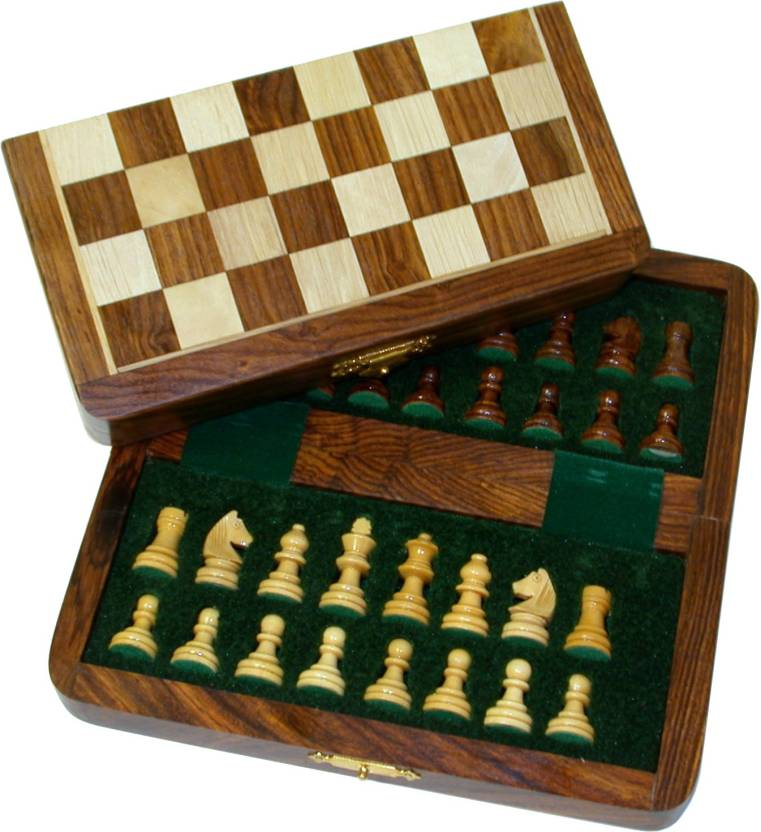 Ak Handicrafts Magnetic Collectible 7 Inch Chess Board Game