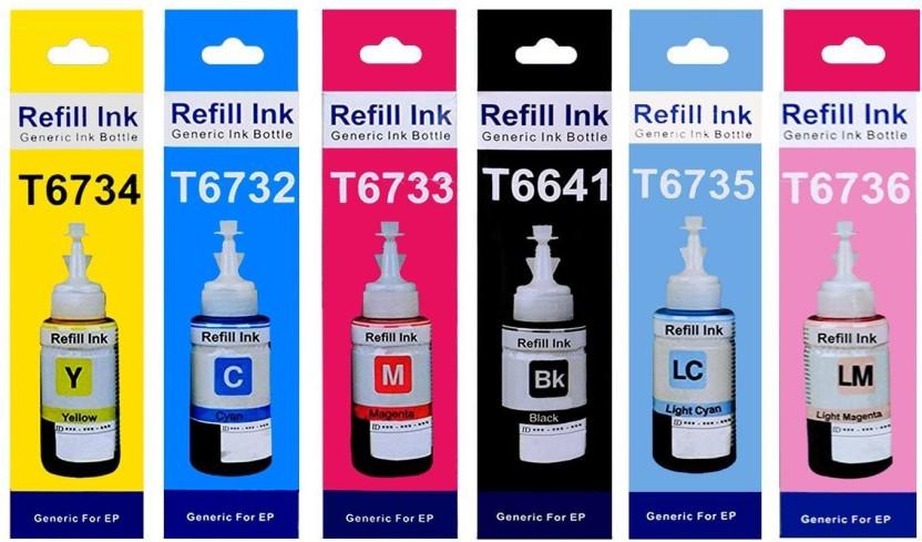 New Original Epson Ink T6731//T6732//T6733//T6734//T6735//T6736 70ml 3 Sets