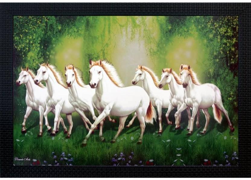 7 White Horse Painting Vastu Defendbigbird Com