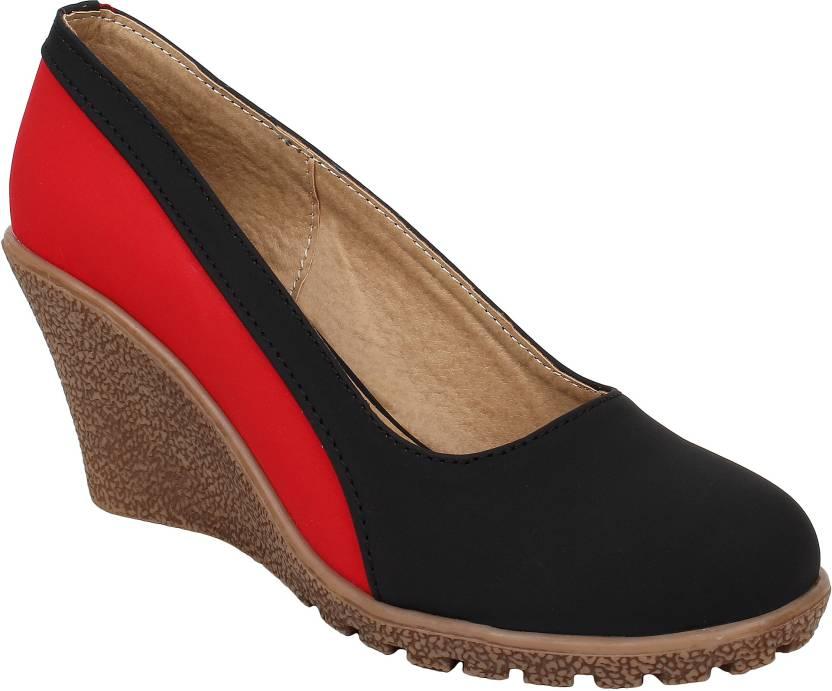 b58945a95aa0 Glitzy Galz Women Black Wedges - Buy Glitzy Galz Women Black Wedges Online  at Best Price - Shop Online for Footwears in India
