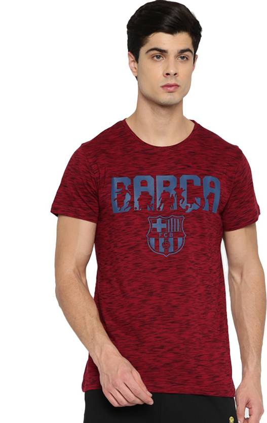 3a66e1d90 FC Barcelona Graphic Print Men Round Neck Red T-Shirt - Buy FC Barcelona  Graphic Print Men Round Neck Red T-Shirt Online at Best Prices in India