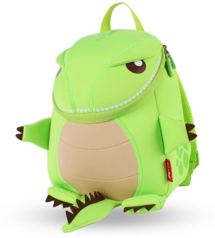 404a040b2bf1 Nohoo Lightweight 3d-Cartoon Green Dinosaur Backpack for Kids Waterproof Plush  Bag (Green