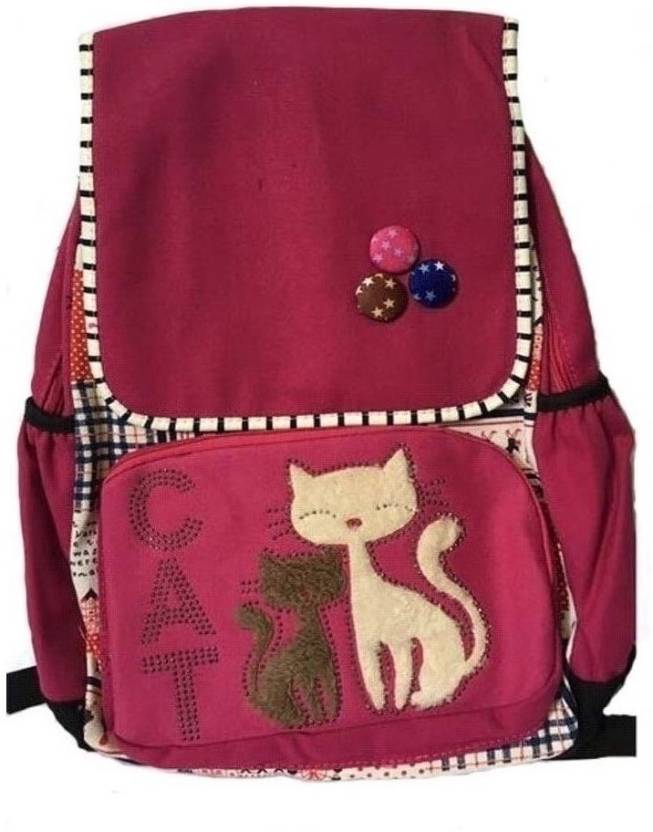 good india cute pink cat bag Backpack (Pink 31cfb3fbdf5e0